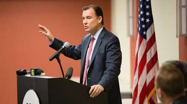 Rep. Thomas Suozzi speaks in Melville on Nov.