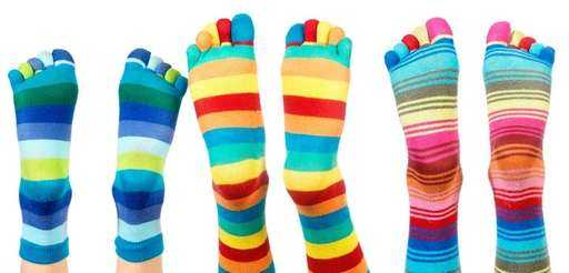 The point of wearing wacky socks is to