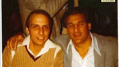 Gaspare Valenti, left, with cousin Vincent Asaro, in