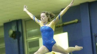 Bethpage's Jamie Kaletcher on the balance beam at