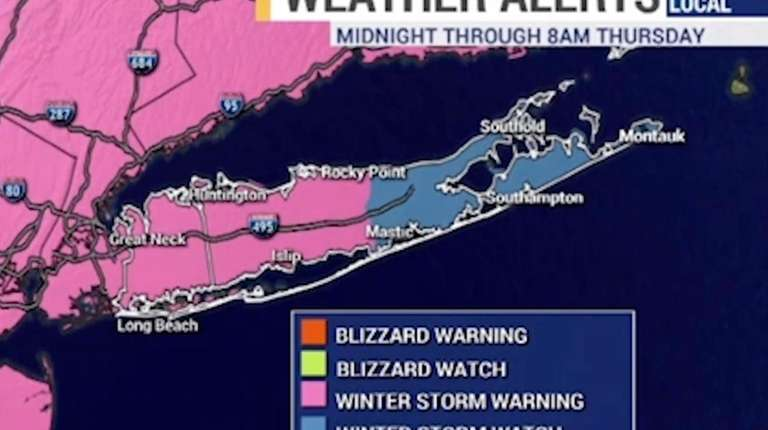 A winter storm warning is in effect from