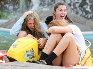 Caelan del Grosso, 14, of Long Beach, left,