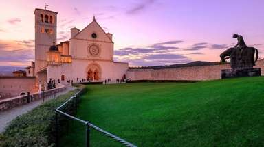 St. Francis Basilica in Assisi village.