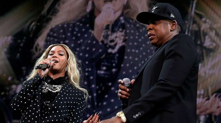 Beyoncé and Jay-Z perform in Cleveland in 2016.