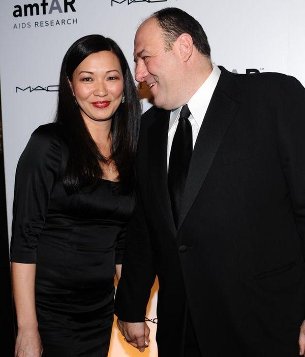 James Gandolfini and wife Deborah Lin attend the