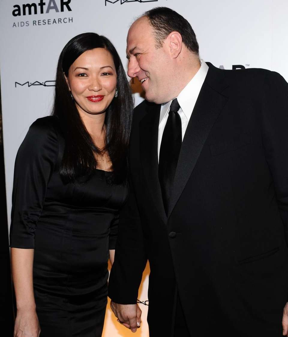 James Gandolfini and wife Deborah Lin attend the