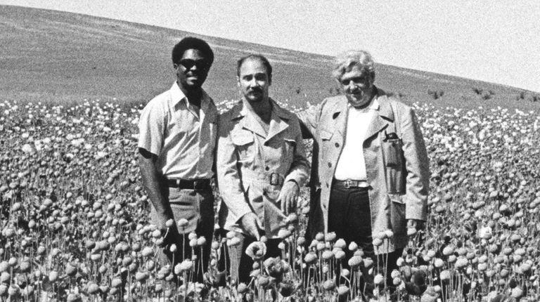 Les Payne, Knut Royce, and Bob Greene, pose