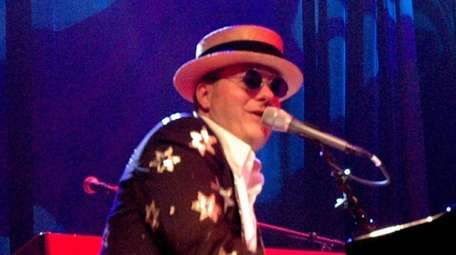 Vocalist Greg Ransom performs with the Elton John