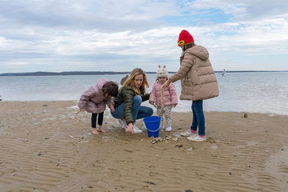 Kate Mesquita from Southold and her children Sophia,