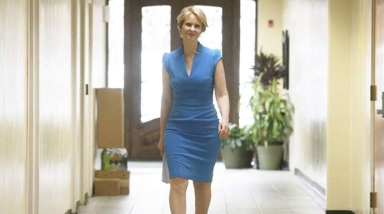 Cynthia Nixon arrives at the Bethesda Healing Center