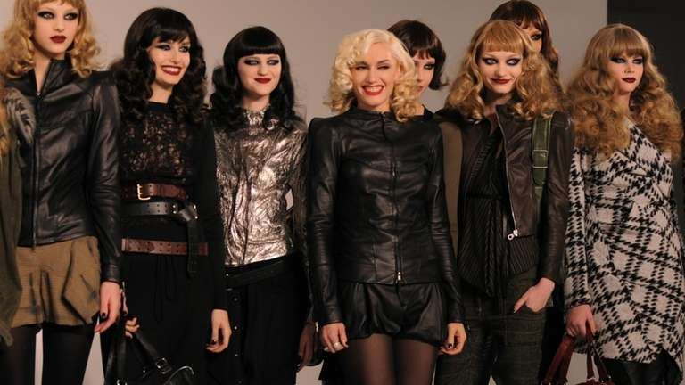 L.A.M.B. by Gwen Stefani, center, fashions are presented