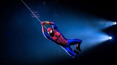 Spider-Man will swing over the crowd at Nassau