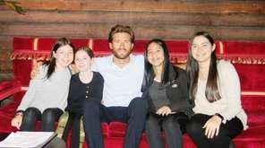 Actor Scott Eastwood with Kidsday reporters, from left,