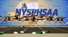 Seaford cheerleaders compete in the NYSPHSAA Cheerleading Championships