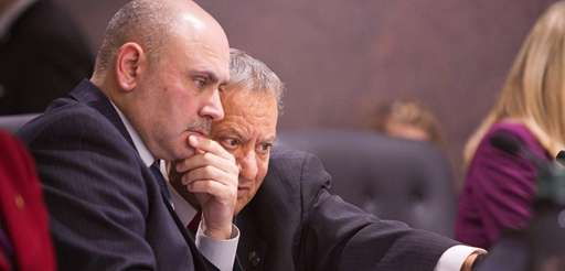 Legis. Rudy Sunderman, left, and Tom Muratore during