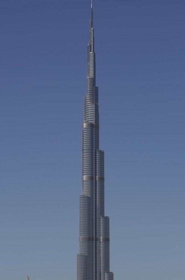 The world's tallest tower, Buj Khalifa is seen
