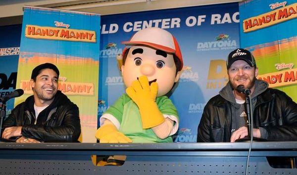 Dale Earnardt Jr. and Handy Manny