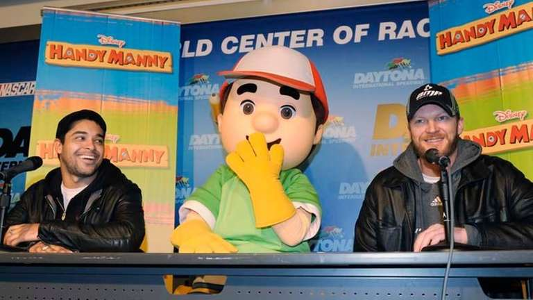 Dale Earnardt Jr. and Handy Manny