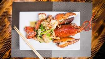 Lobster with ginger and scallions is one of