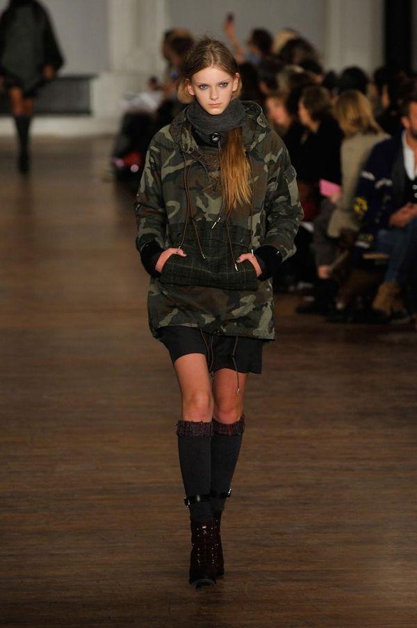 A model walks the runway at the Rag