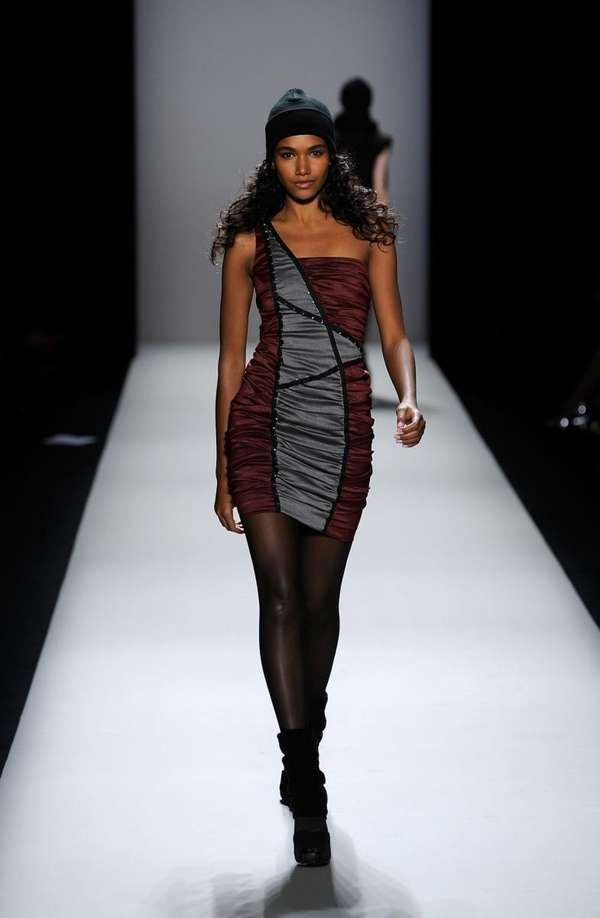 Tiny, body-hugging dresses are also part of the
