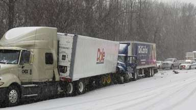A crash involving two tractor trailers and other