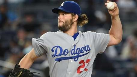 Los Angeles Dodgers starting pitcher Clayton Kershaw.