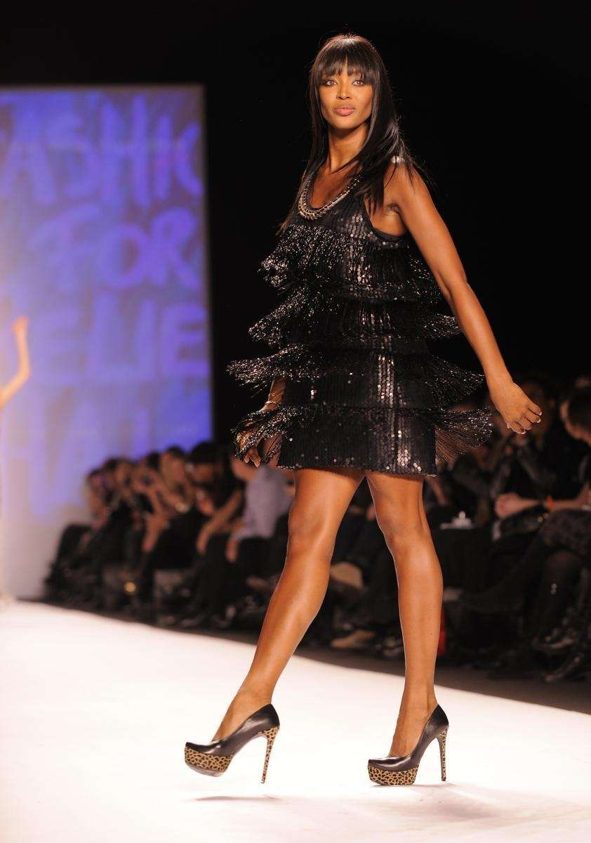 Supermodel Naomi Campbell at her Fashion For Relief