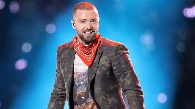 Justin Timberlake performs in the Super Bowl's halftime