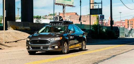A pilot model of an Uber self-driving car