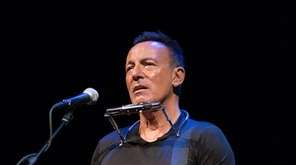 Bruce Springsteen at his Broadway debut at the