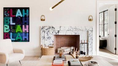 This Sagaponack living room was designed by Sag