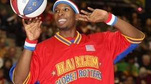 Solomon Bamiro Globetrotters, from Central Islip, with the