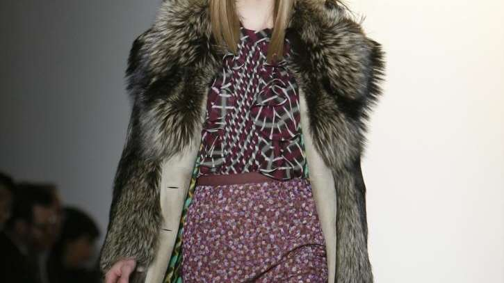 The Peter Som fall 2010 collection is modeled