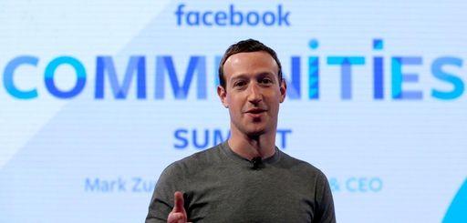Facebook CEO Mark Zuckerberg at the Facebook Communities