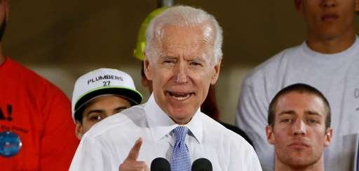 Former Vice President Joe Biden at a rally