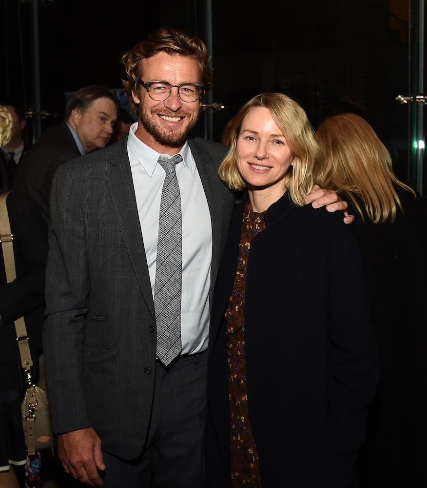 Actors Simon Baker and Naomi Watts at the
