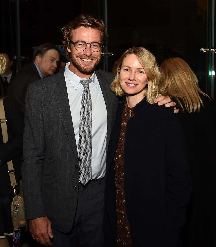 Actors Simon Baker and Naomi Watts at the