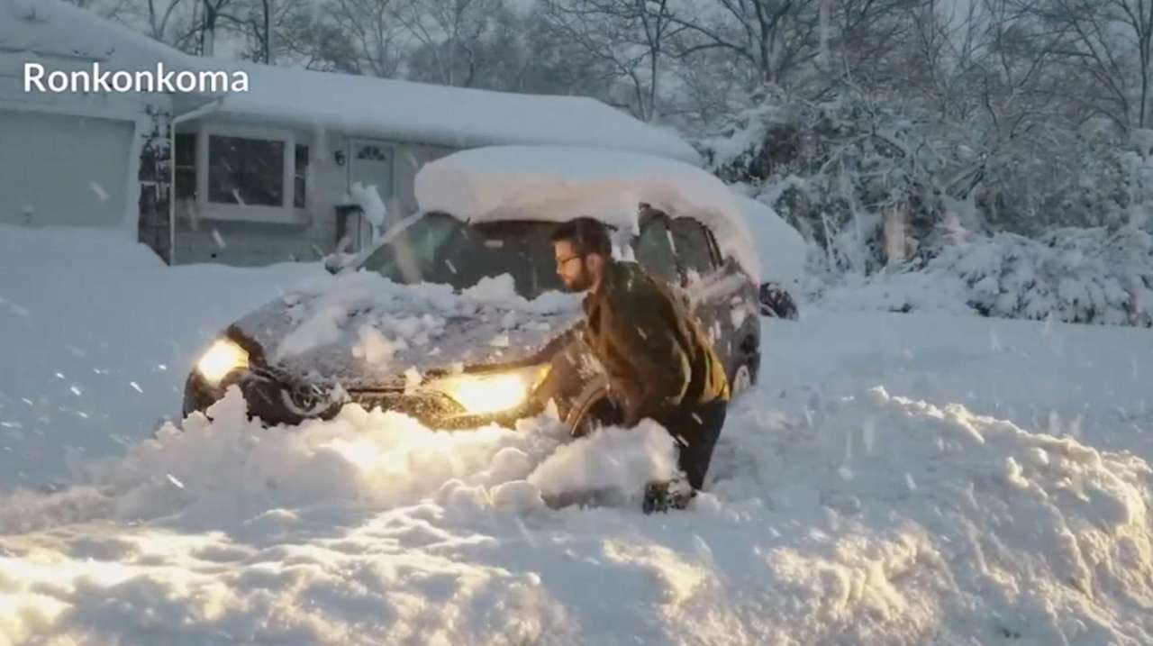 A look at the snow on Long Island