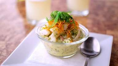 Classic ceviche, prepared with the catch of the