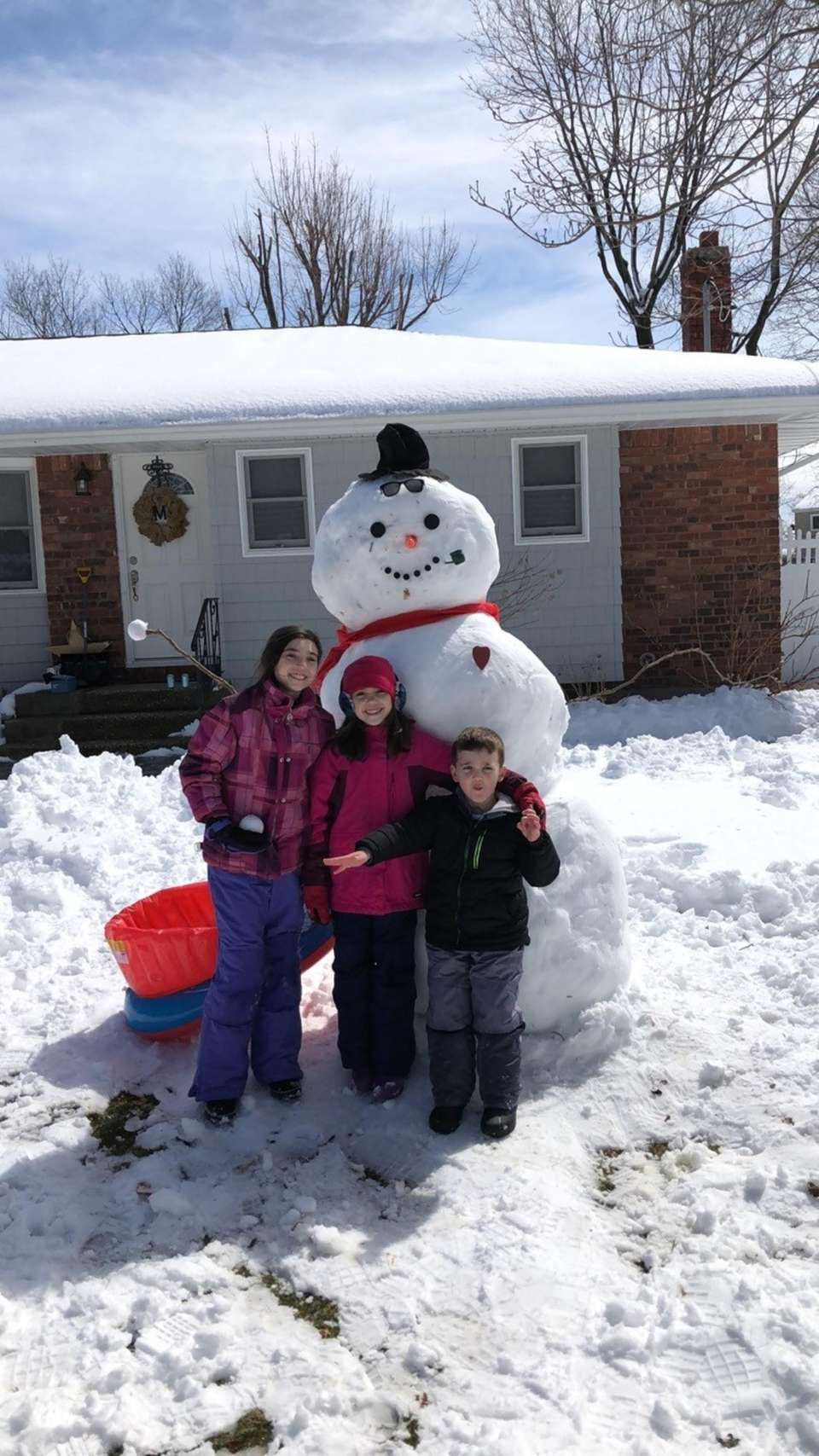 Cousin Snow Day March 22, 2018 Madison, Mia