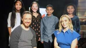 Actors James McAvoy and Emily Blunt with Kidsday