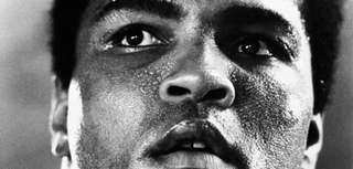 Heavyweight boxer Muhammad Ali trains for an upcoming