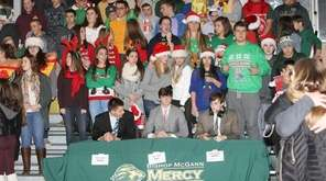 Bishop McGann-Mercy High School fans get ready for