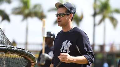 Yankees manager Aaron Boone before the start of