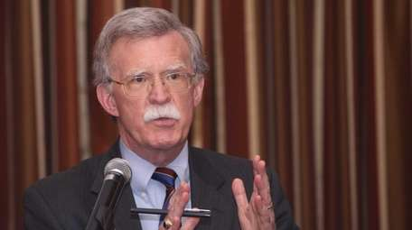 Former United Nations Ambassador John Bolton, addresses a