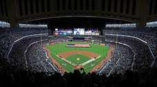Yankee Stadium before ALCS Game 3 against the