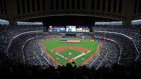 Yankee Stadium before ALCS Game 3 against the