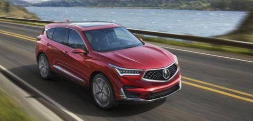 2019 Acura RDX compact SUV is on display