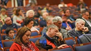 Attendees at a public hearing on Thursday, March
